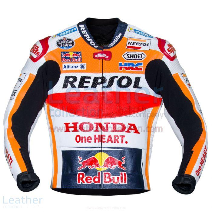 Pick Online Marc Marquez Honda Repsol MotoGP 2017 Leather Jacket for $