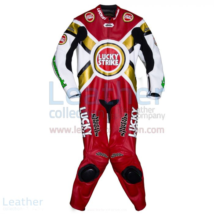 Buy Martin Craggill Lucky Strike Kawasaki Leathers for SEK7,911.20 in