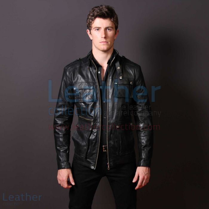 Grab Men Leather Fashion Rockwell Jacket for SEK6,336.00 in Sweden