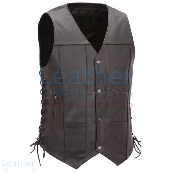 Mens Biker Vest | Buy Now | Leather Collection