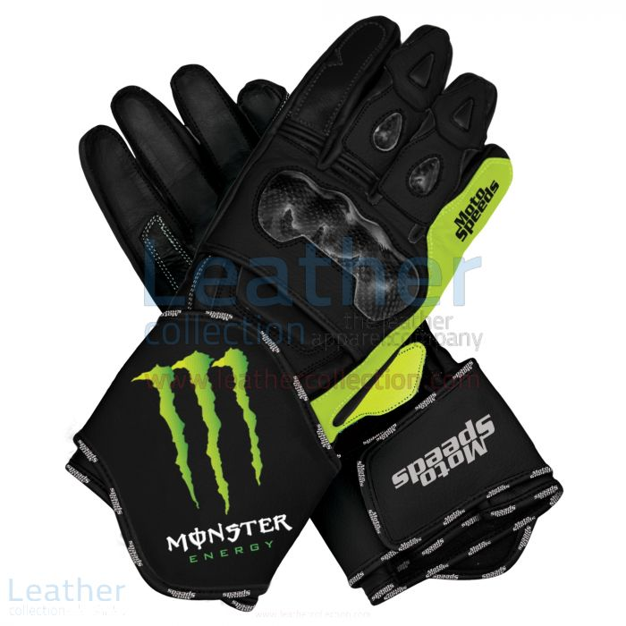 Customize Online Monster Motorbike Leather Race Gloves for A$337.50 in