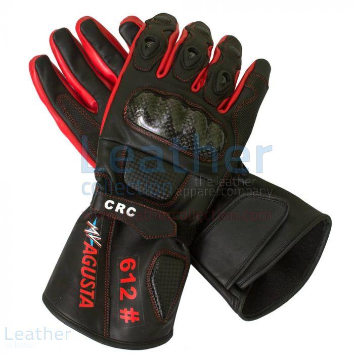 Order Online MV Agusta Race Leather Gloves for $199.00