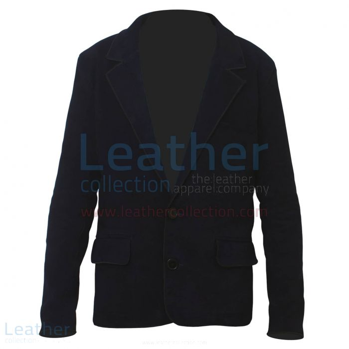 Offering Online Navy Suede Fashion Leather Blazer for CA$524.00 in Can