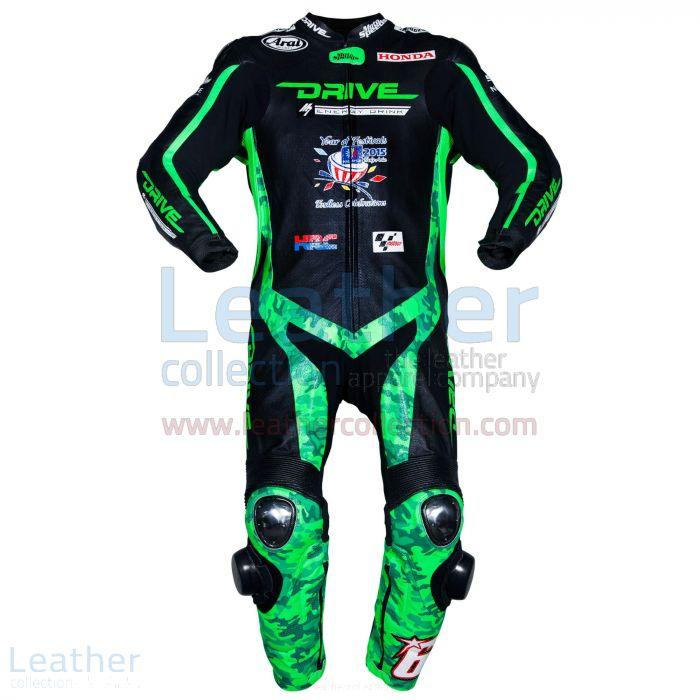 ¥100のためのニッキー・ヘイデンホンダレーシングモトGPムジェロ2015スーツをカスタマイズ