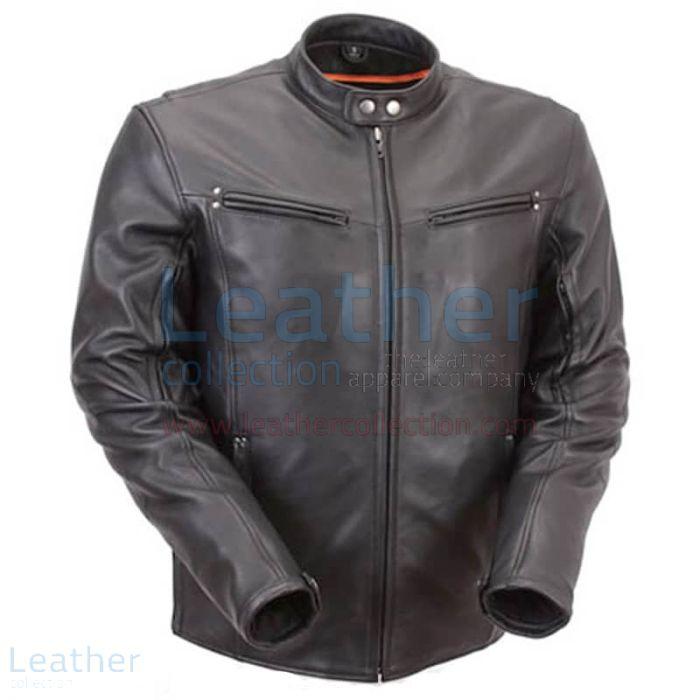 Kauf Premium Leder Reiterjacke mit mehreren Öffnungen