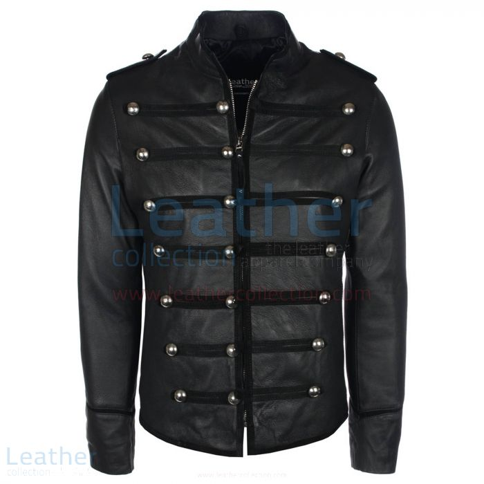 Military Biker Jacket – Prince Leather Jacket | Leather Collection