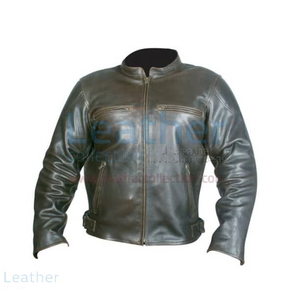 Pick it up Retro Brown Leather Jacket for £167.20 in UK