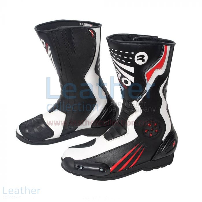 Purchase Now Crescent Leather Moto Boots for CA$260.69 in Canada