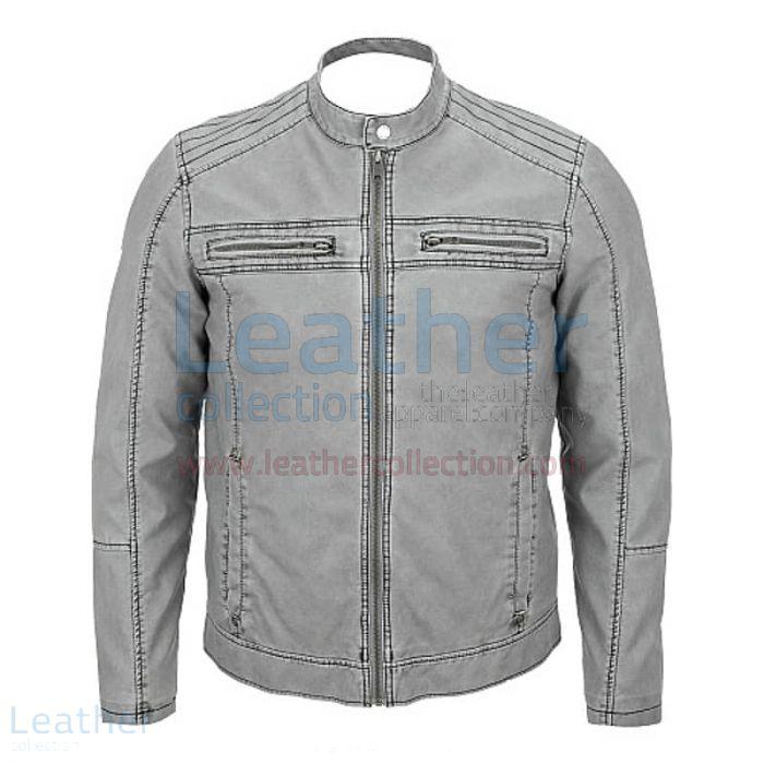 Gray Leather Jacket – Semi Moto Jacket   Leather Collection