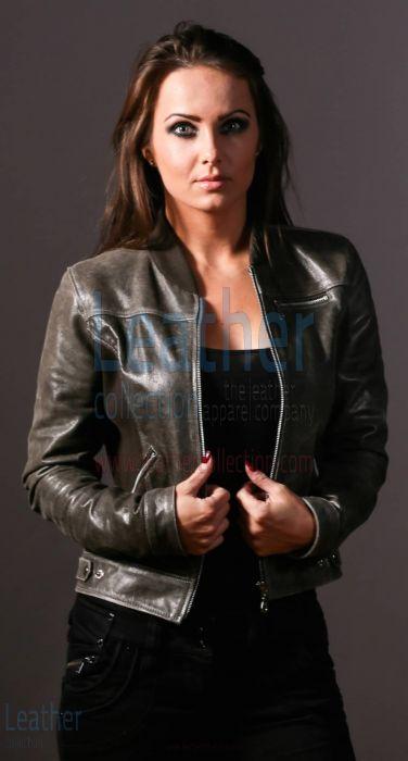 Greifen Schlitten Frauen Mode Lederjacke
