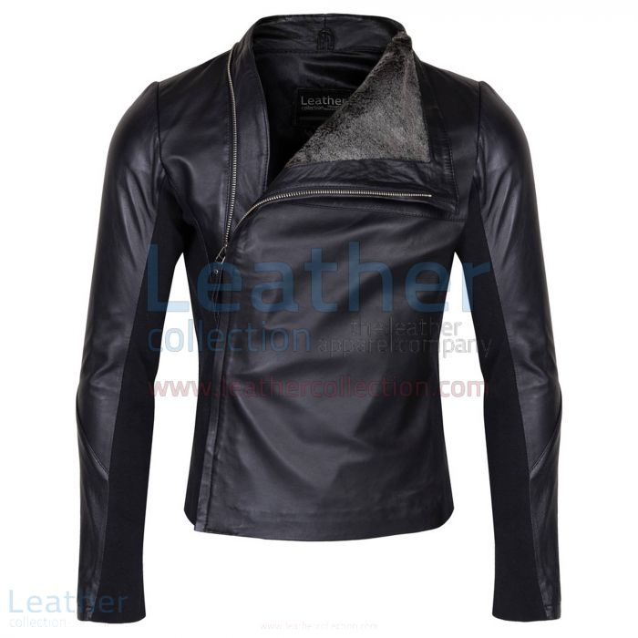 Order Online Slim & Smart Leather Jacket with Fur Lining for CA$641.90