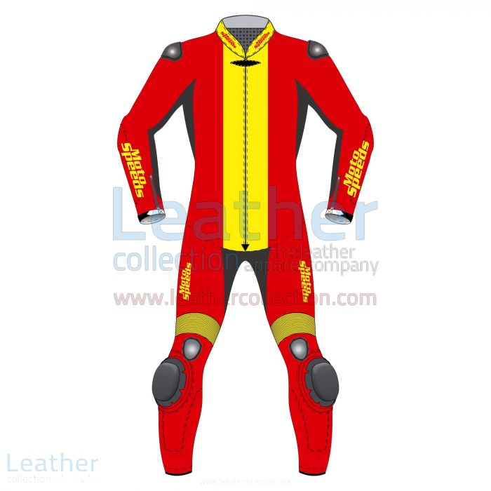 Pick up Now Spain Flag Moto Race Suit for $800.00