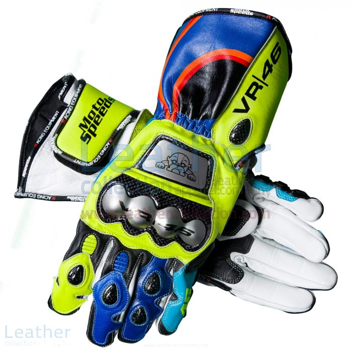 Kaufen Valentino Rossi 2017-2018 MotoGP Handschuhe