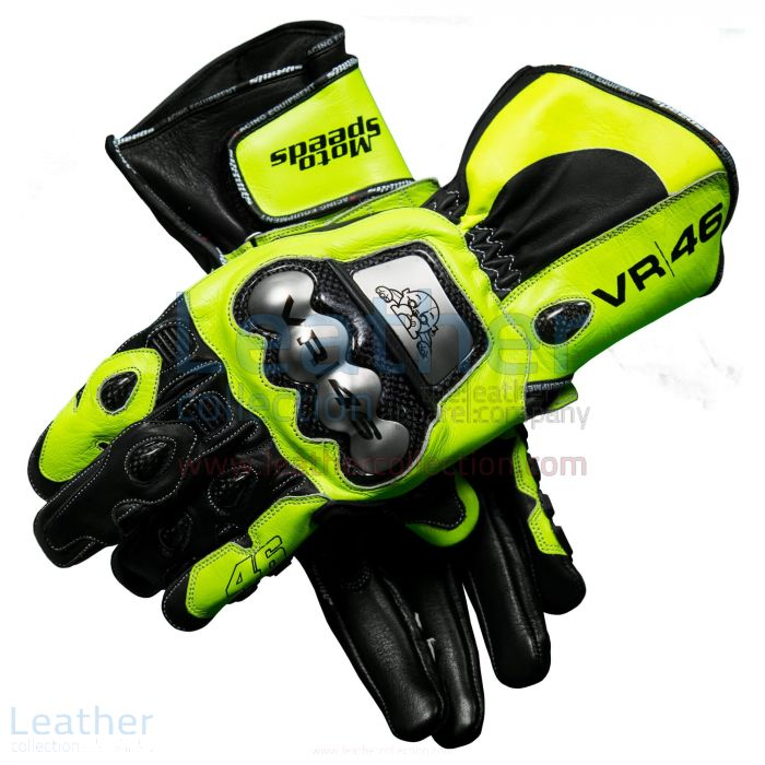 Prendi ora Valentino Rossi 2018 MotoGP Leather Gloves €215.00