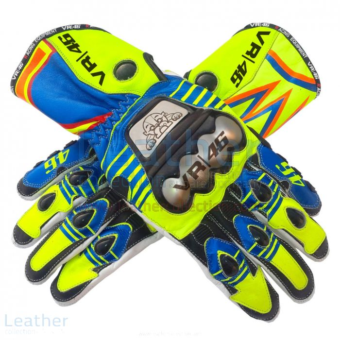 Get Now Valentino Rossi MotoGP 2015 Race Gloves for $250.00