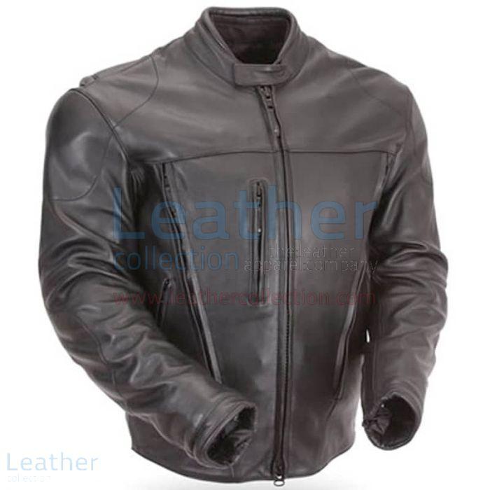 Lederjacke | Wasserdichte Motorrad Lederjacke mit CE-Rüstung