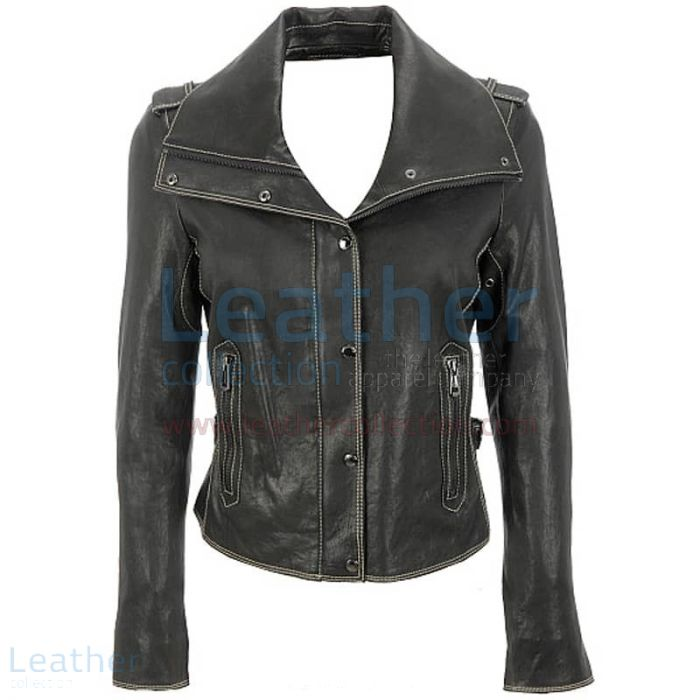Pick it Now Wing Collar Jacket Leather for SEK1,936.00 in Sweden