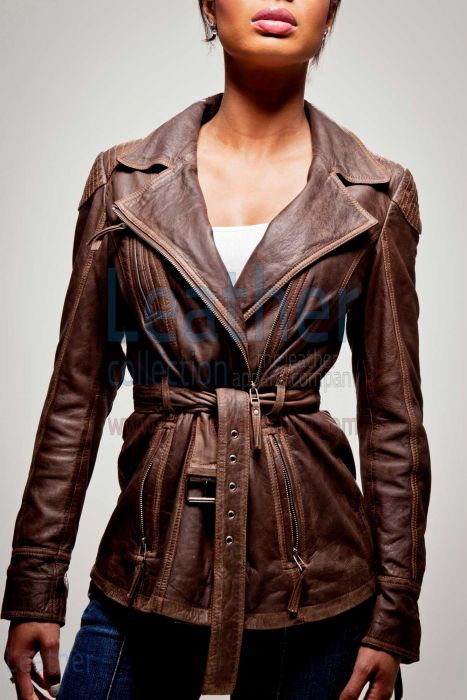 Compra Chaqueta Estilo Militar Mujer – Leather Collection