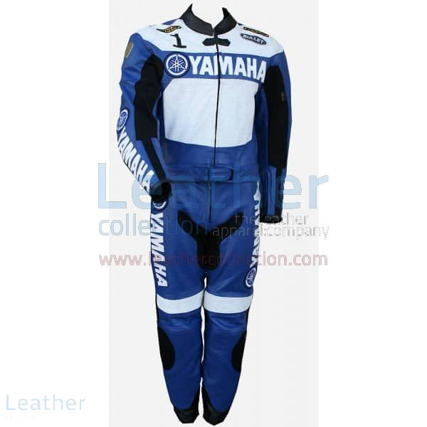 Offering Online Yamaha Racing Leather Suit Blue / White for SEK7,480.0