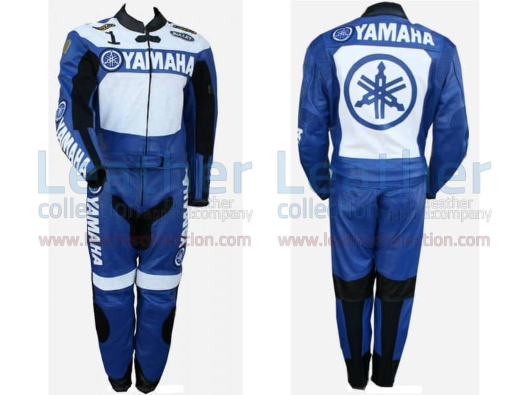 Yamaha Racing Leather Suit Blue / White