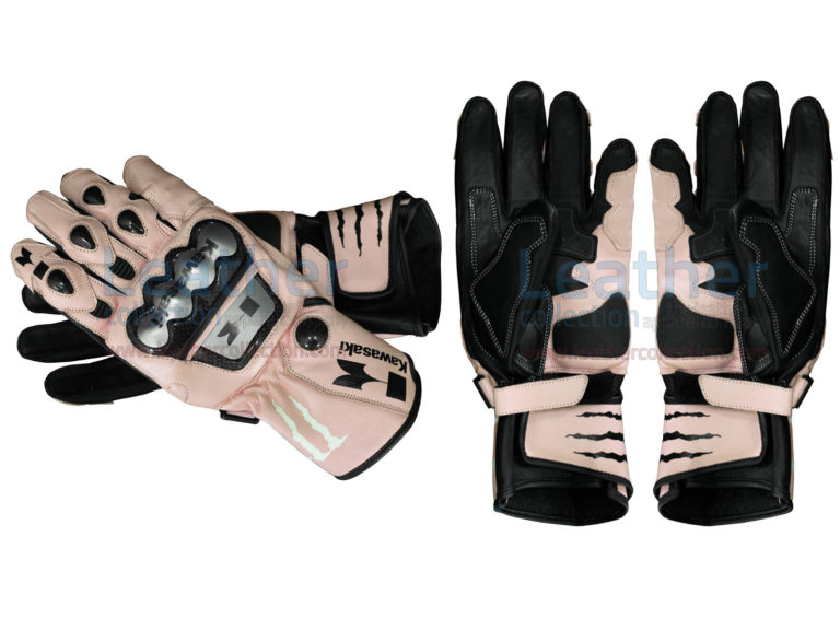 Kawasaki Monster Leather Gloves