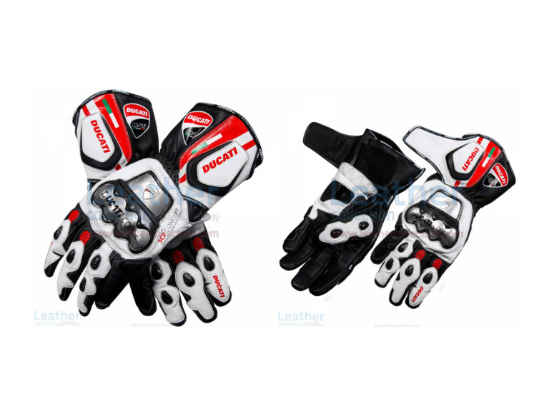DUCATI CORSE LEATHER MOTORCYCLE GLOVES