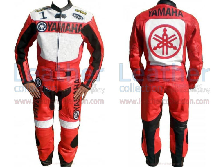 Yamaha Motorbike Leather Suit Red / White