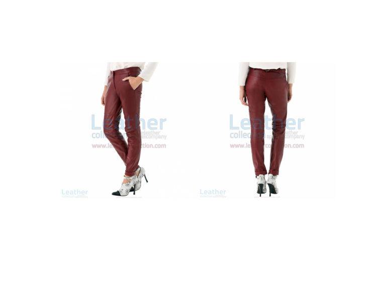 Cherry Leather Pants For Women