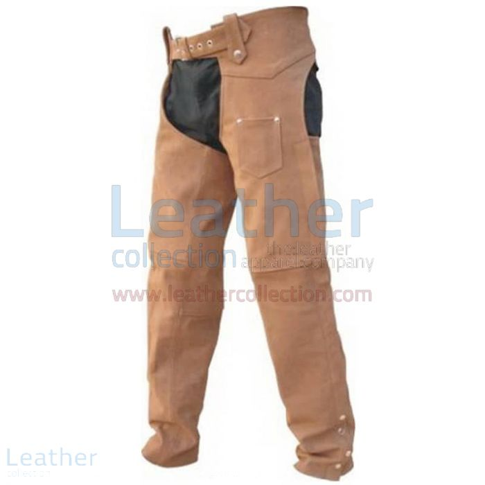 MEN'S LEATHER RIDING BRAIDED CHAPS