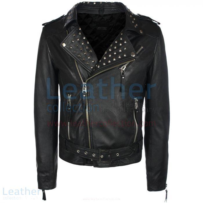 Studded Leather Jacket Mens