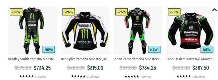 Yamaha monster energy clothing