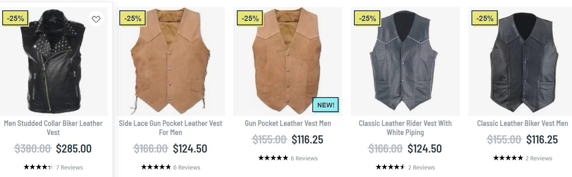 Mens leather vest