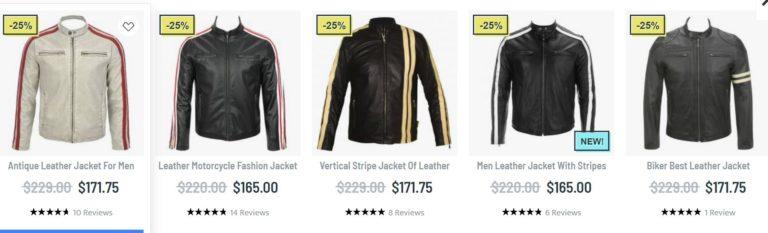 Biker leather jackets men