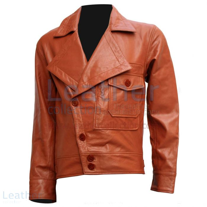 Aviator leather jacket