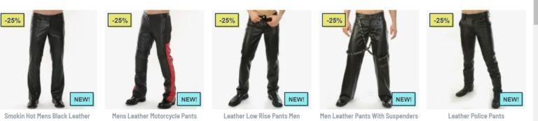 men leather pants