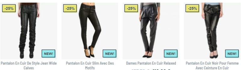 pantalon en cuir femme